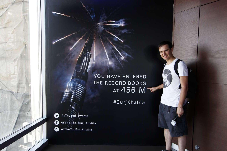 A 456 metros en el Burj Khalifa