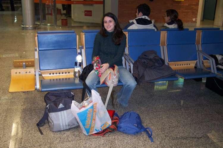 Esperando al vuelo en Santander