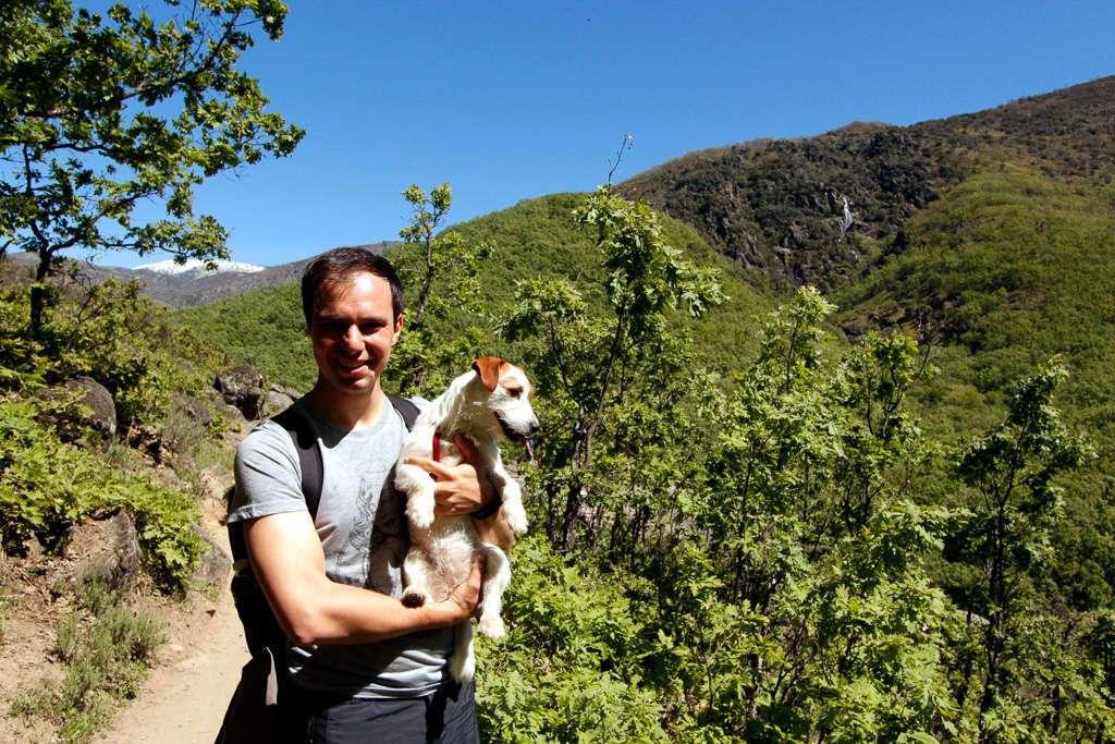 Alberto y Amy en el Valle del Jerte