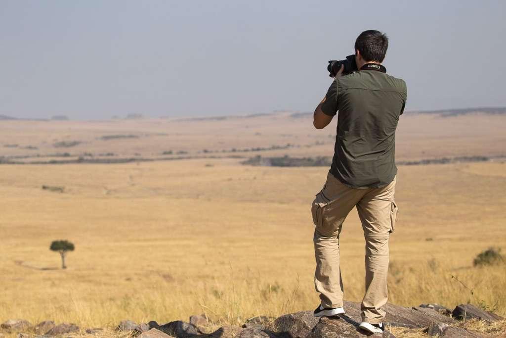 Haciendo fotos a la sabana