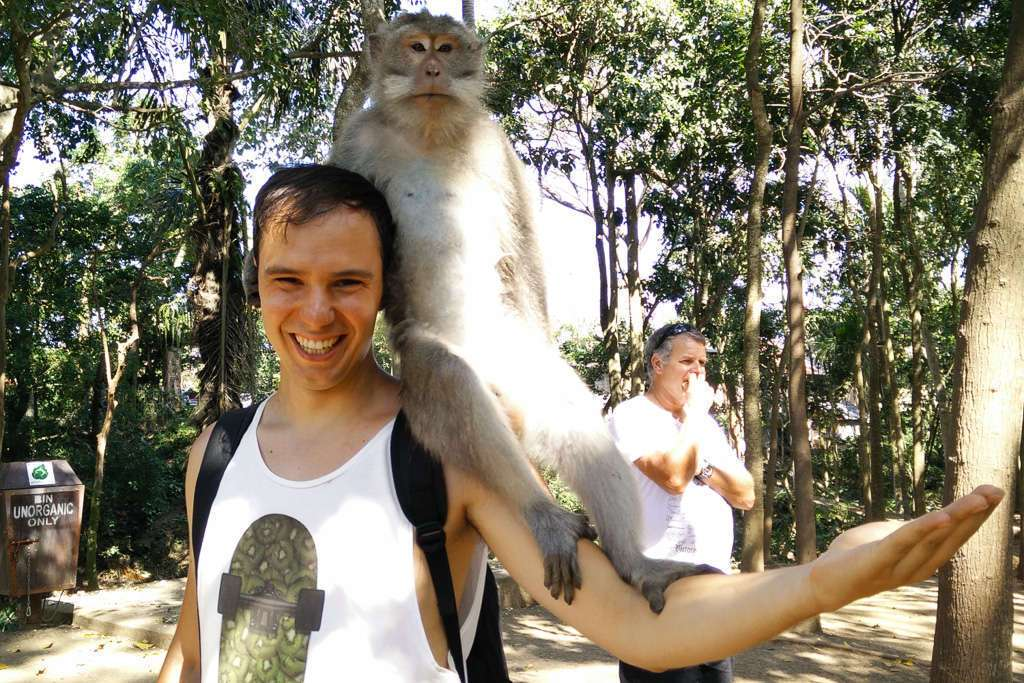 Mi amigo el monete del Monkey Forest