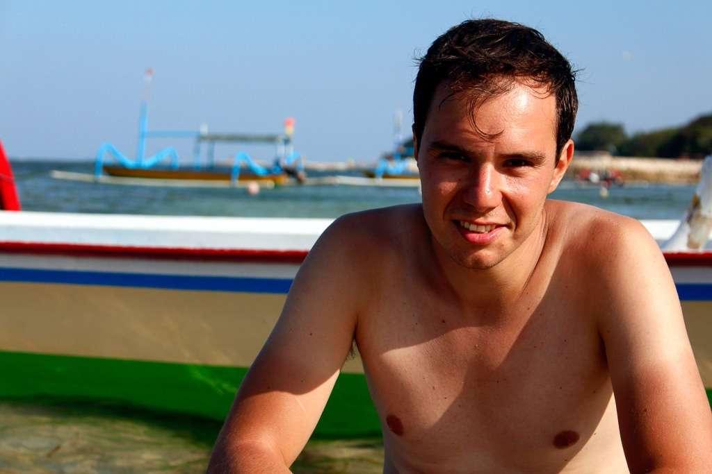 Alberto en Sanur Beach (Bali)