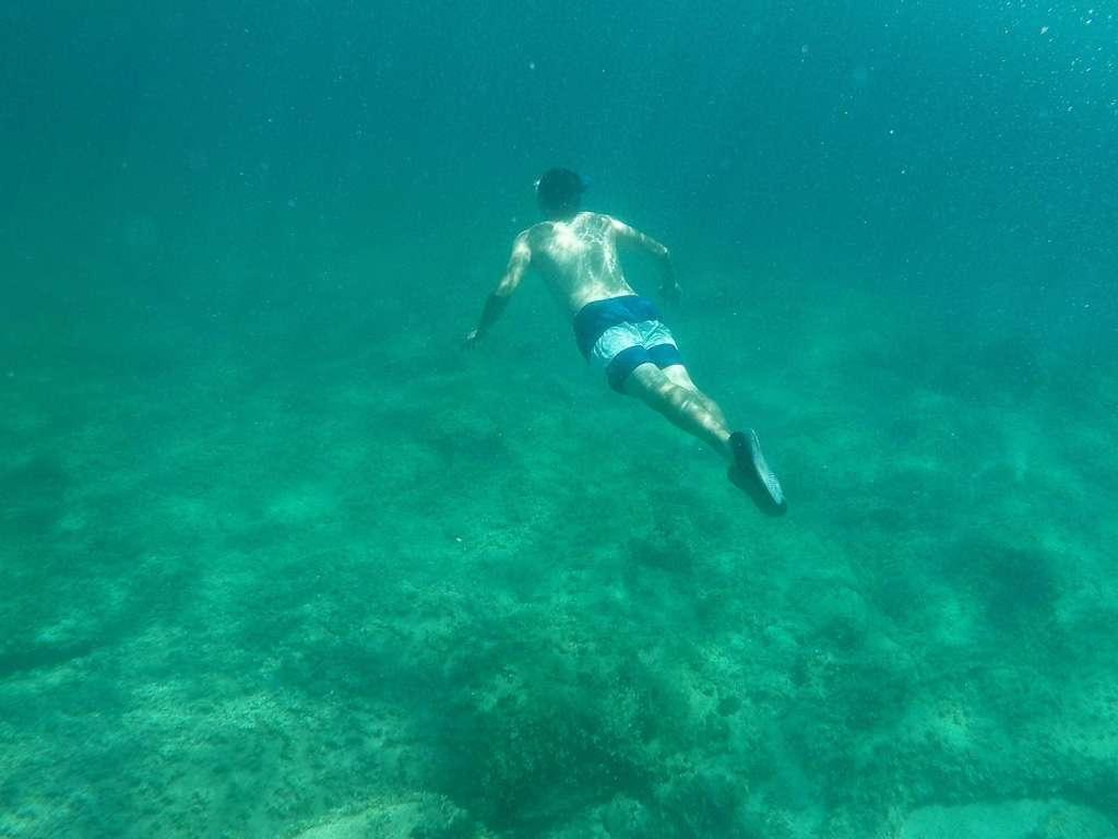 Alberto buceando en Mallorca