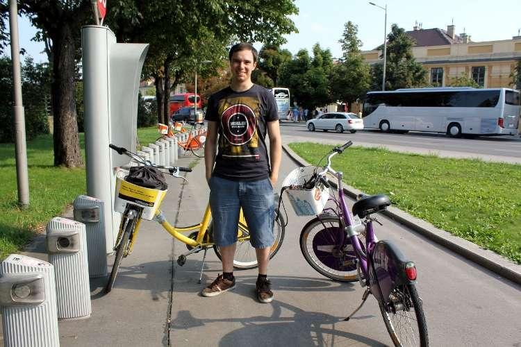 Disfrutando de las bicis gratuitas de Viena