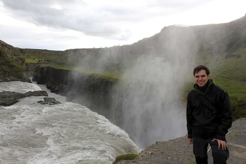 Alberto cerca de la cascada Gullfoss