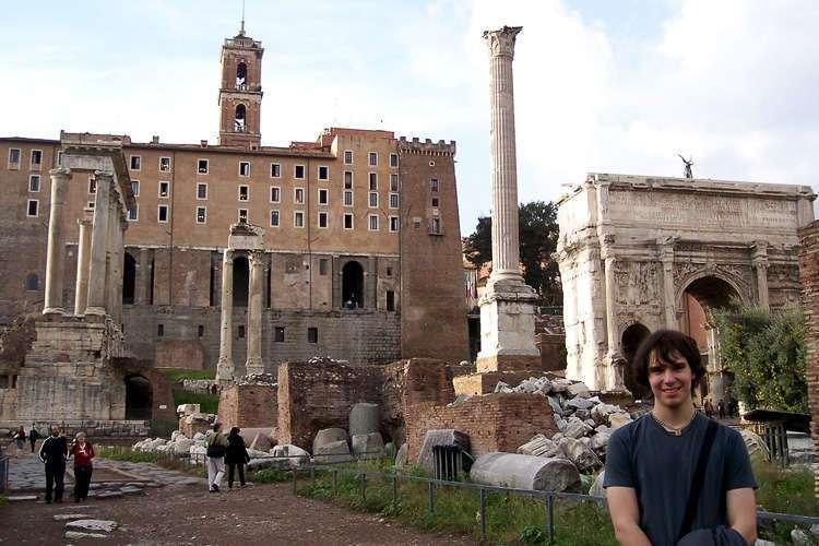 El foro y el arco de Septimio Severo