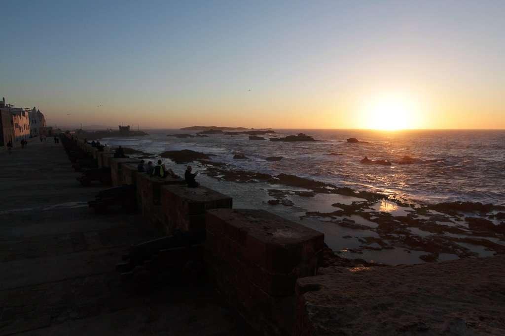 Atardecer en Essaouira desde la Skala de la Ville