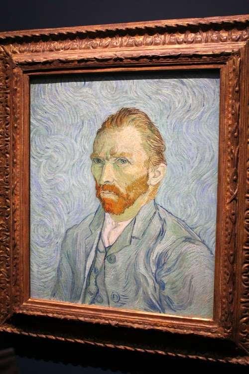 """""""Autorretrato"""" de Van Gogh (Museo d'Orsay)"""