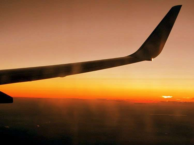 Volando hacia Polonia