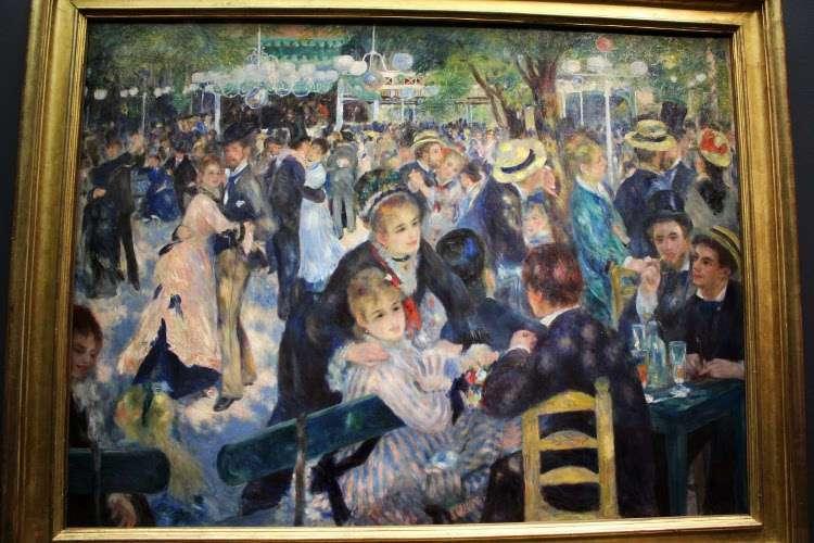 """""""Baile en el Moulin de la Galette"""" de Renoir (Museo d'Orsay)"""