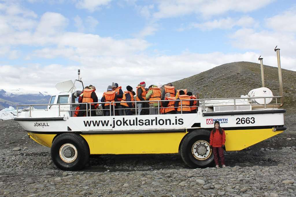 Barco anfibio en Jökulsárlón