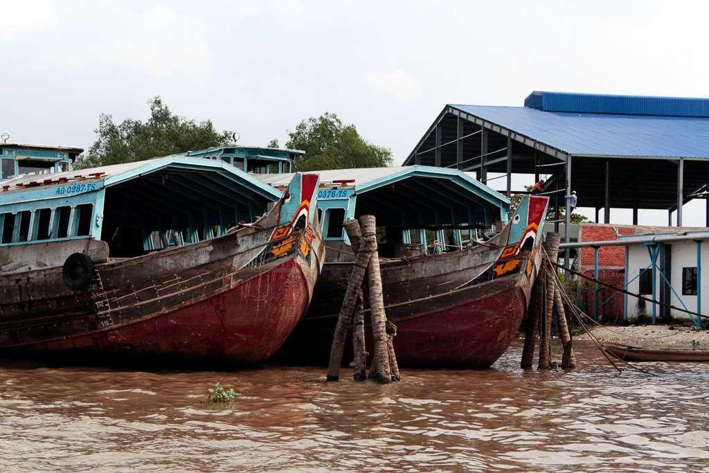 Barcos pesqueros en el delta del Mekong