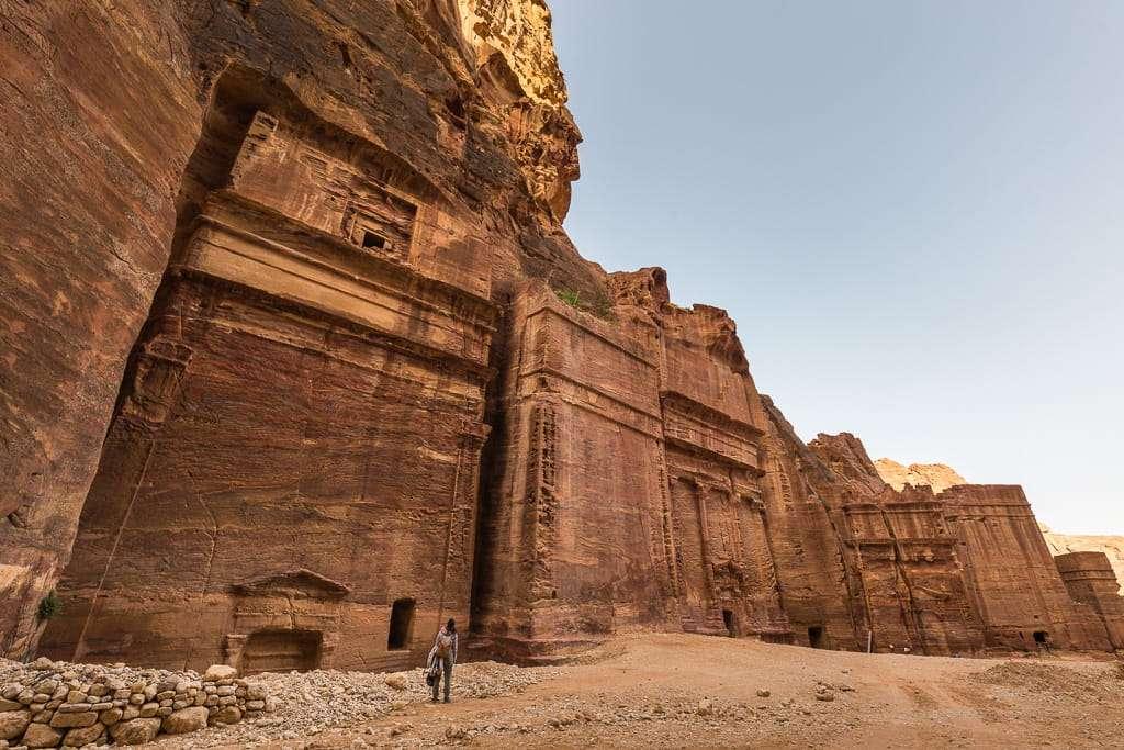 Calle de las fachadas de Petra, Jordania