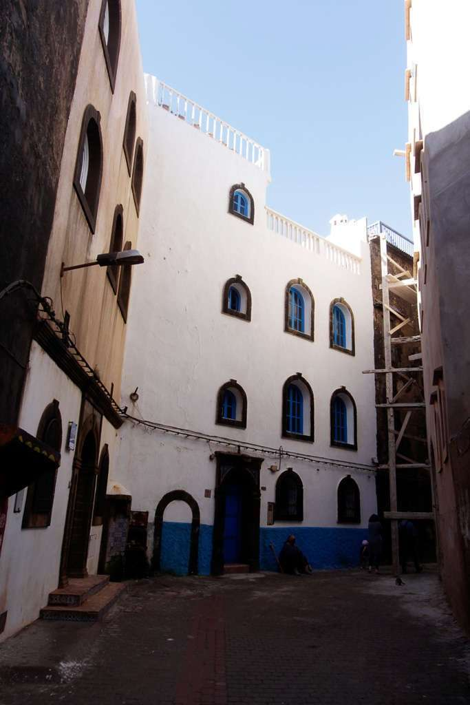 Calles sin gente en Essaouira