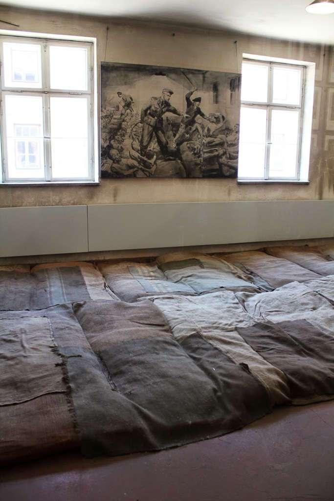 Camas en Auschwitz I