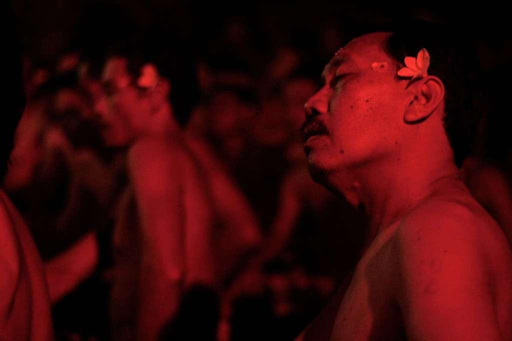 Cantantes de la danza kechak