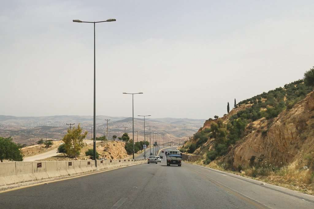Carretera de Amman a Jerash, Jordania