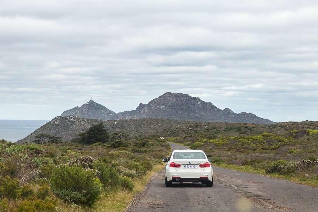 Carretera dentro del Parque del Cabo de Buena Esperanza