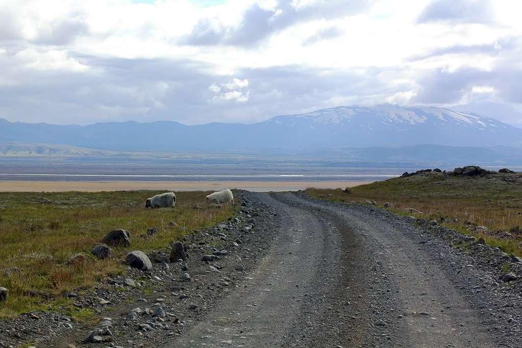 Carretera de tierra de Islandia