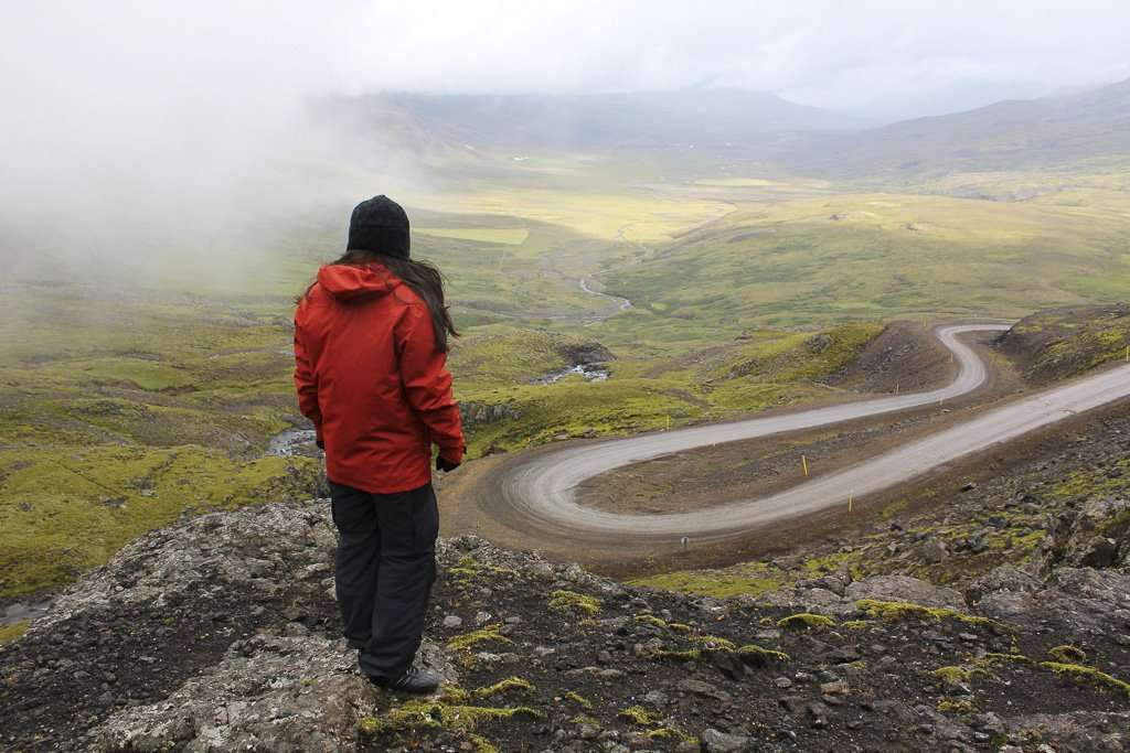 Una de las carreteras de grava de Islandia