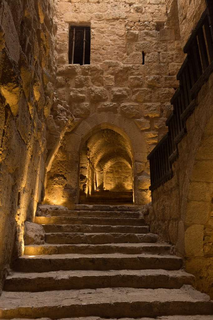 Pasillos del Castillo de Ajlun