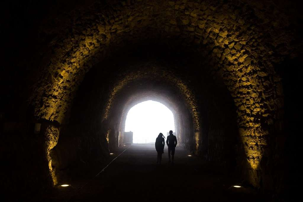 Pasillo abovedado del Castillo de Al-Karak, Jordania