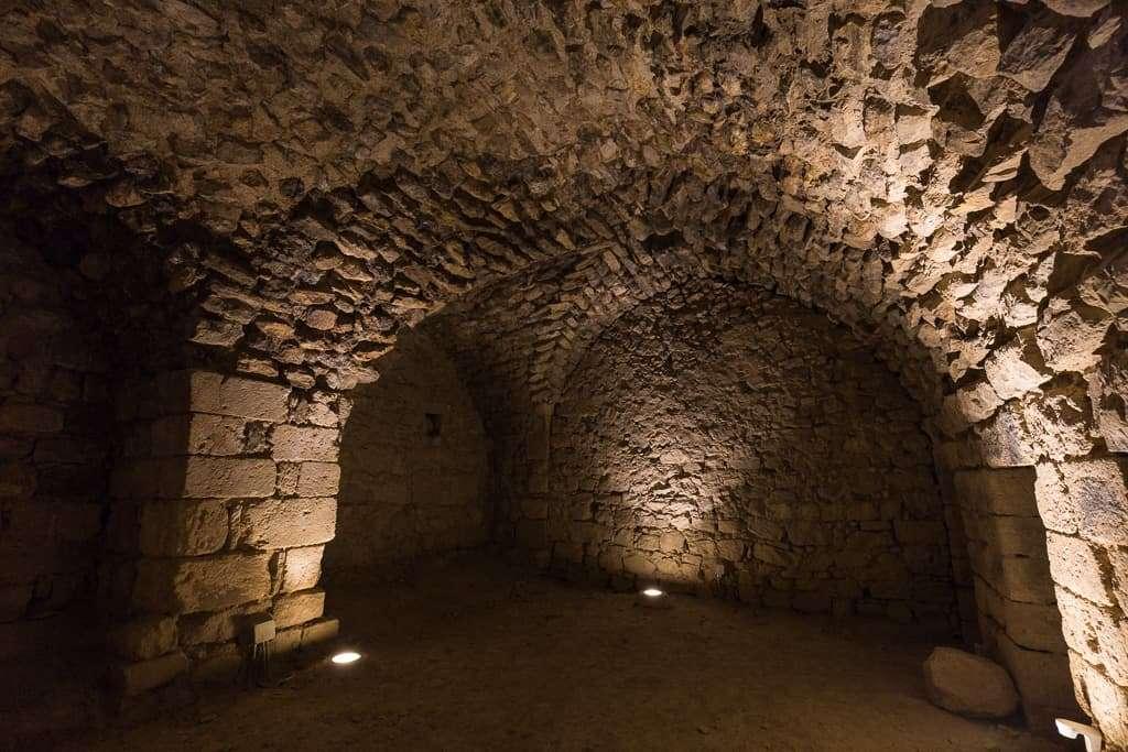 Interior del Castillo de Al-Karak, Jordania
