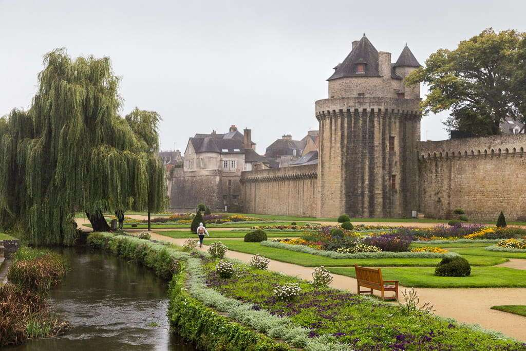 Castillo de Vannes en la Bretaña francesa