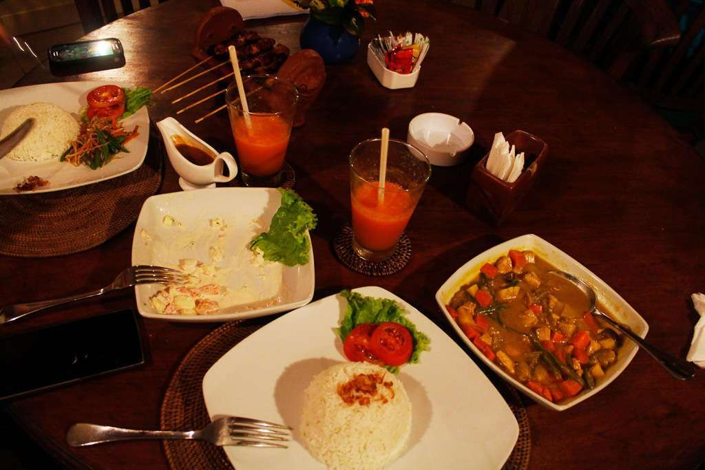 Cena de nuestro segundo día en Bali