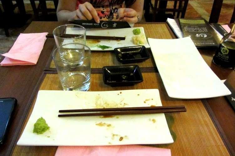 Después de cenar en un japo en Milán