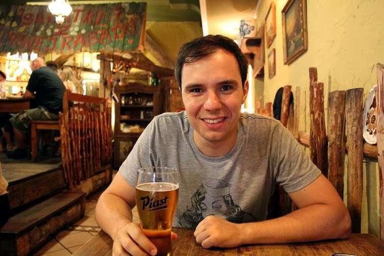 Tomando una cerveza en Wroclaw