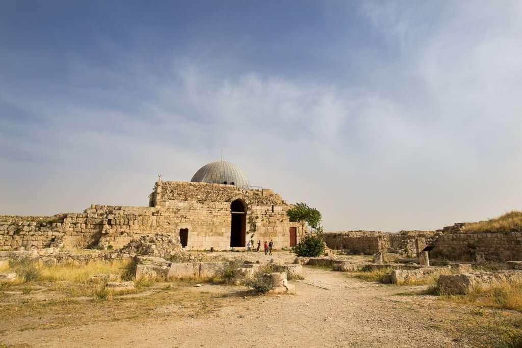 Zona posterior del Palacio Omeya de la Ciudadela de Amman