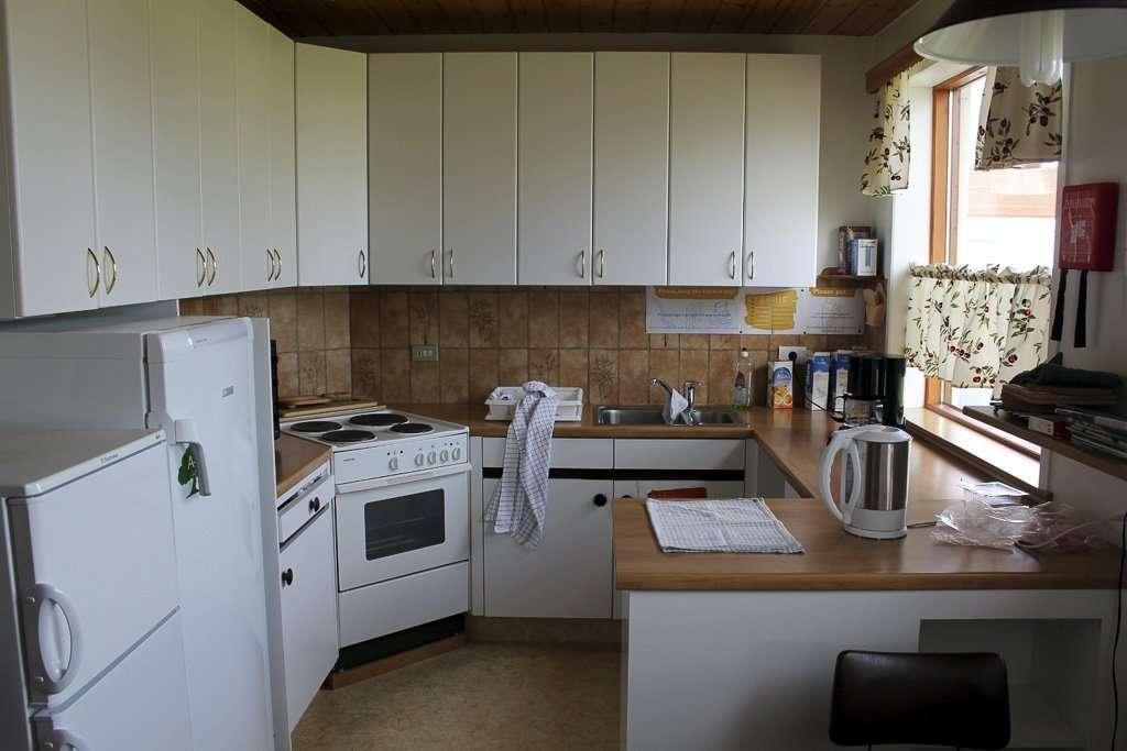 Cocina en un hostel de Islandia