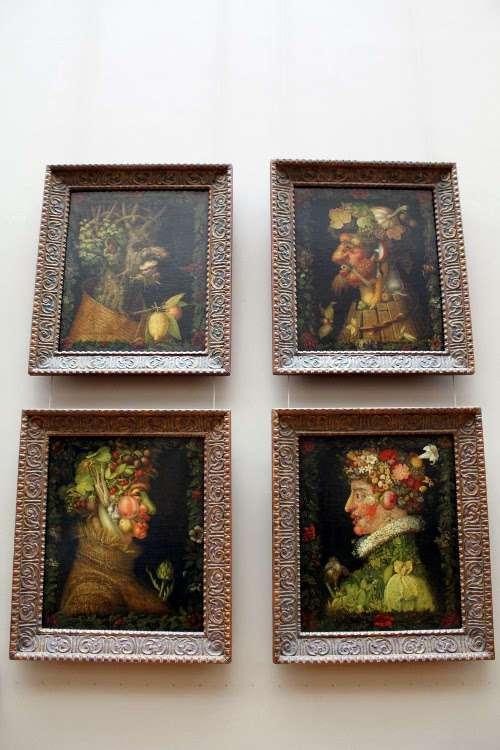 """""""Cuatro estaciones"""" de Arcimboldo (El Louvre)"""