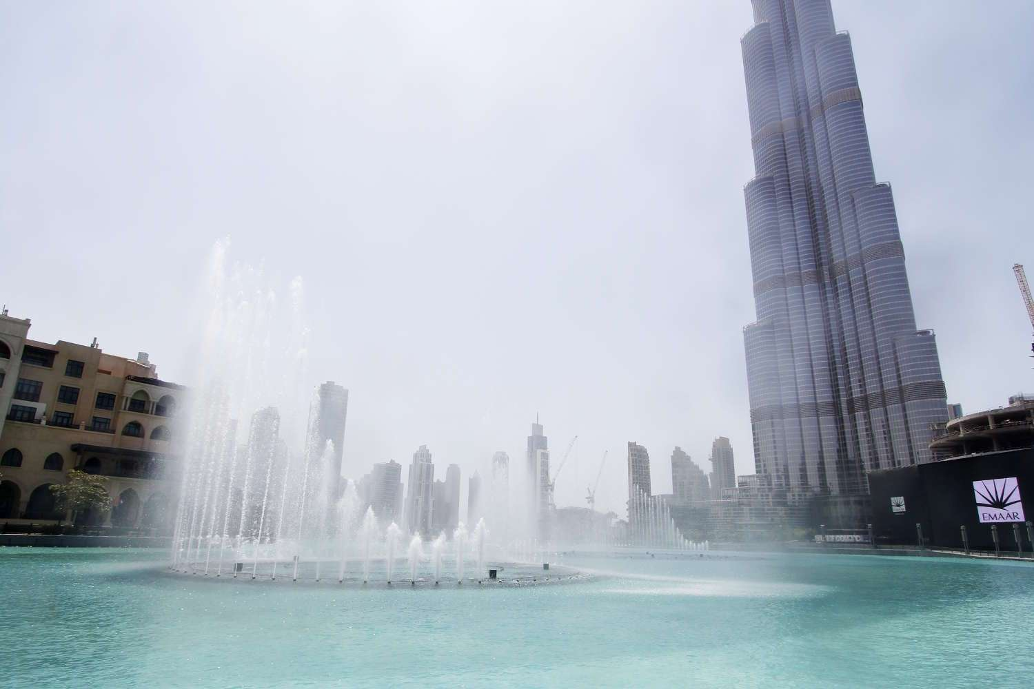 La Dubai Fountain en acción
