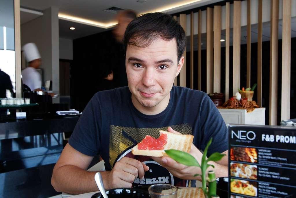Desayunando en el Hotel Neo Malioboro (Yogyakarta)