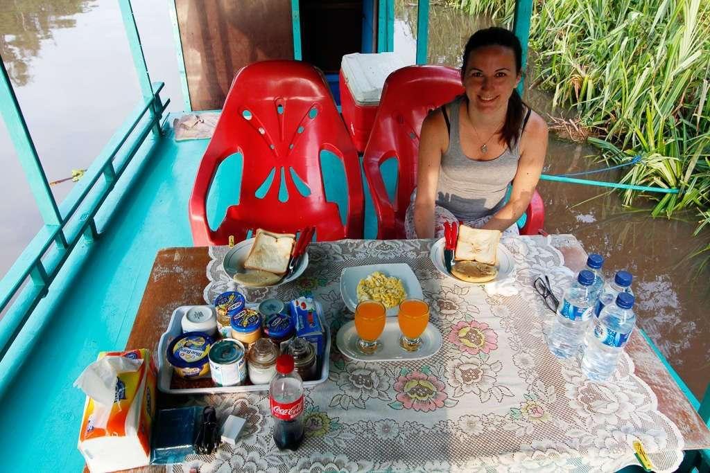 Desayunando en la jungla