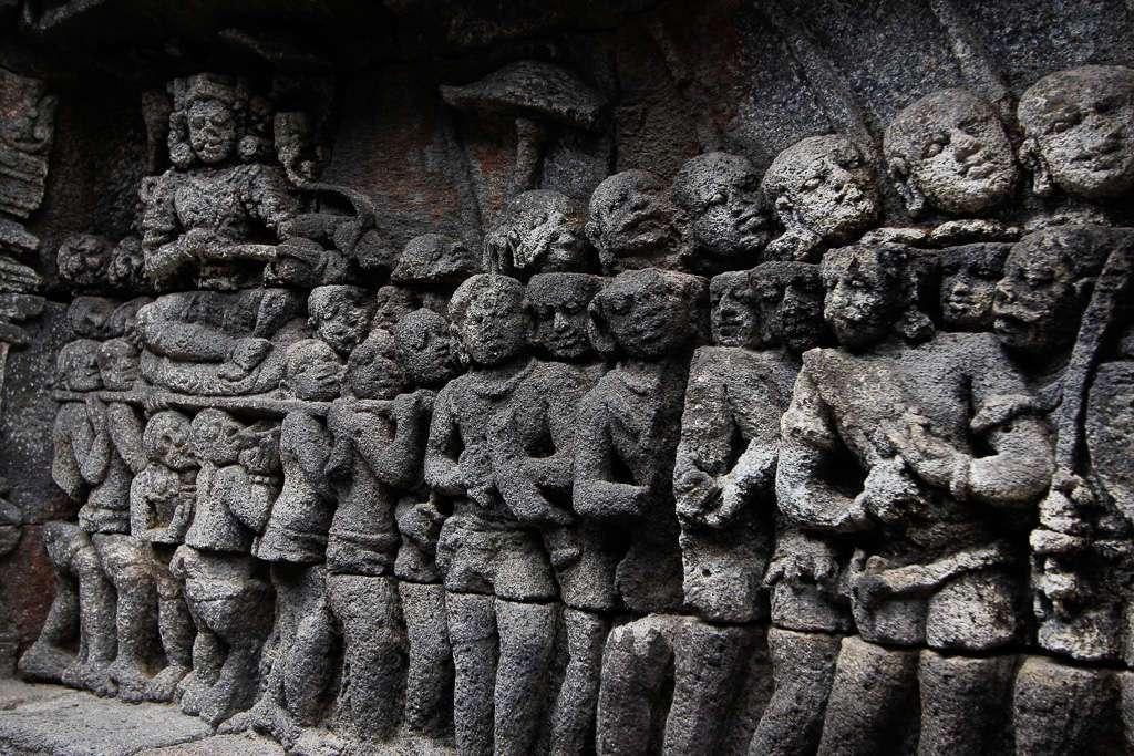 Detalle de los paneles de Borobudur