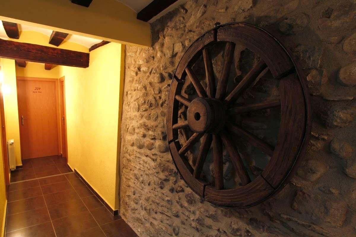 Detalle de los pasillos del alojamiento