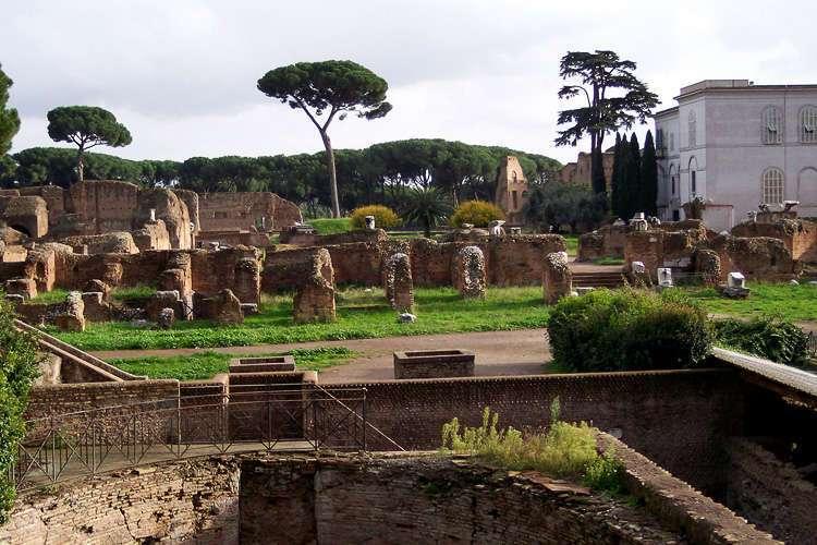 Domus Augustana en el Palatino