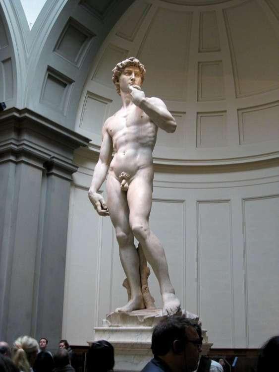El David de Miguel Ángel en la Galería dell'Academia