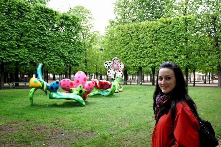 Escultura en el jardín de las Tullerías