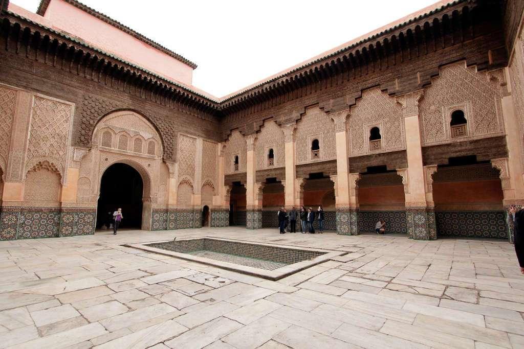 Patio interior de la Madrasa Ali Ben Youssef