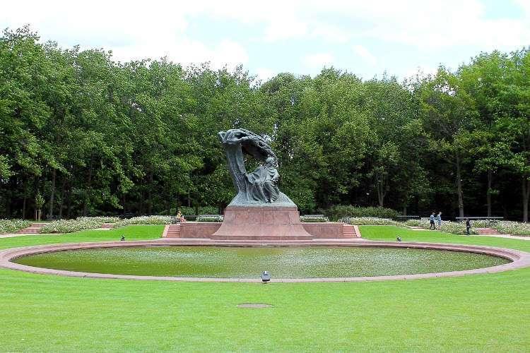 Estatua de Fryderyk Chopin en el parque Łazienki