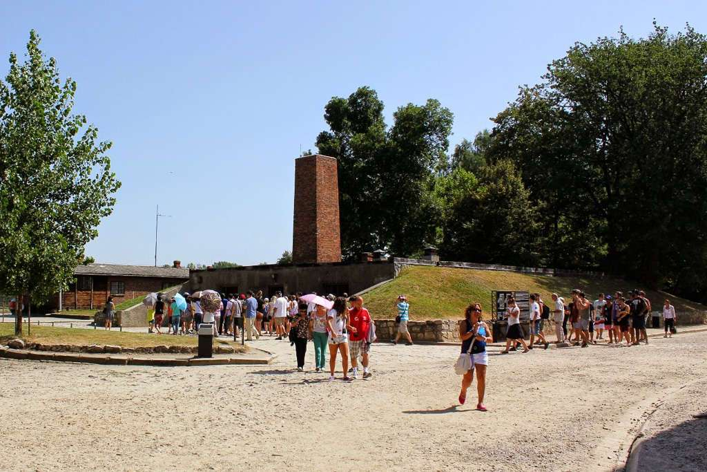 Exterior de la cámara de gas Auschwitz I