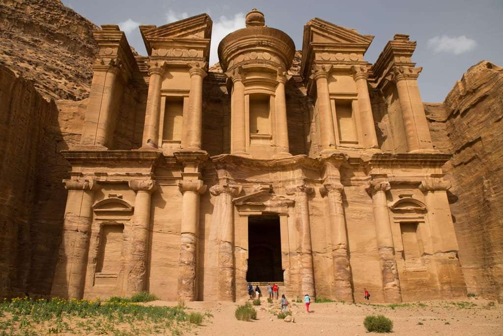 Fachada del Monasterio de Petra, Jordania