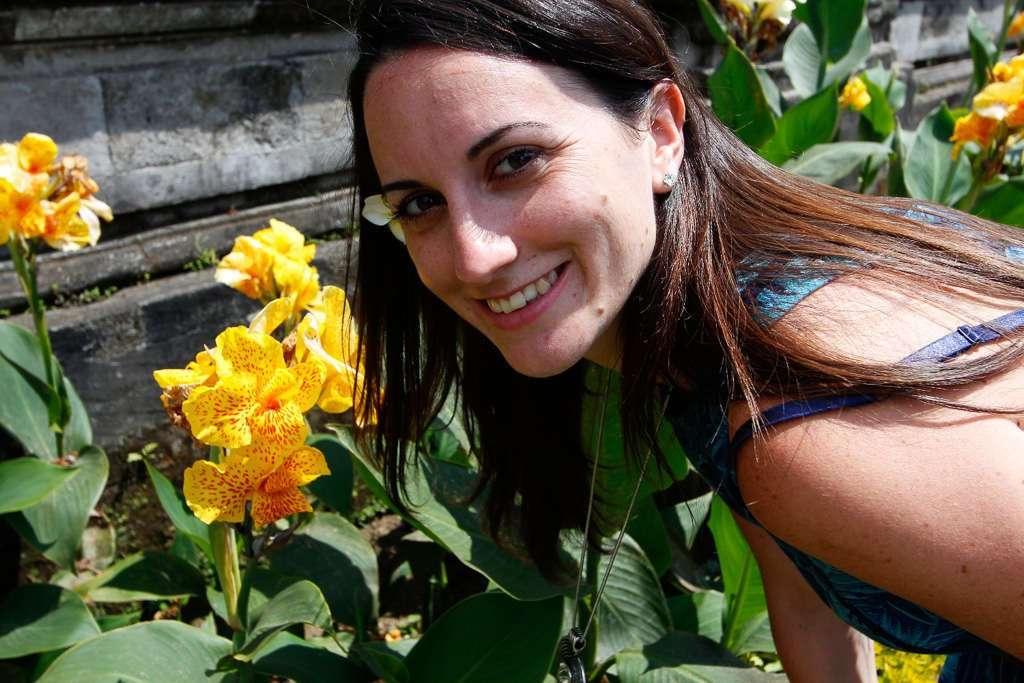 Flores en Ulun Danu Bratan (Bali)