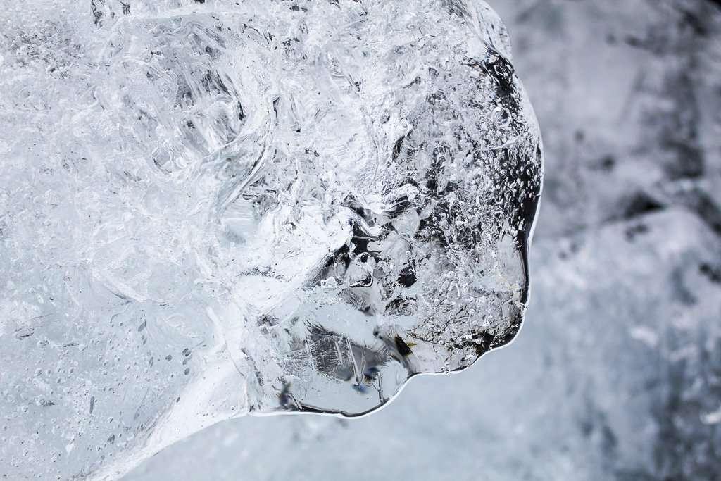 ¿Es un trozo de iceberg o una cara?