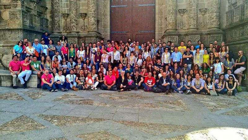 Foto de familia de los asistentes al TBMPlasencia