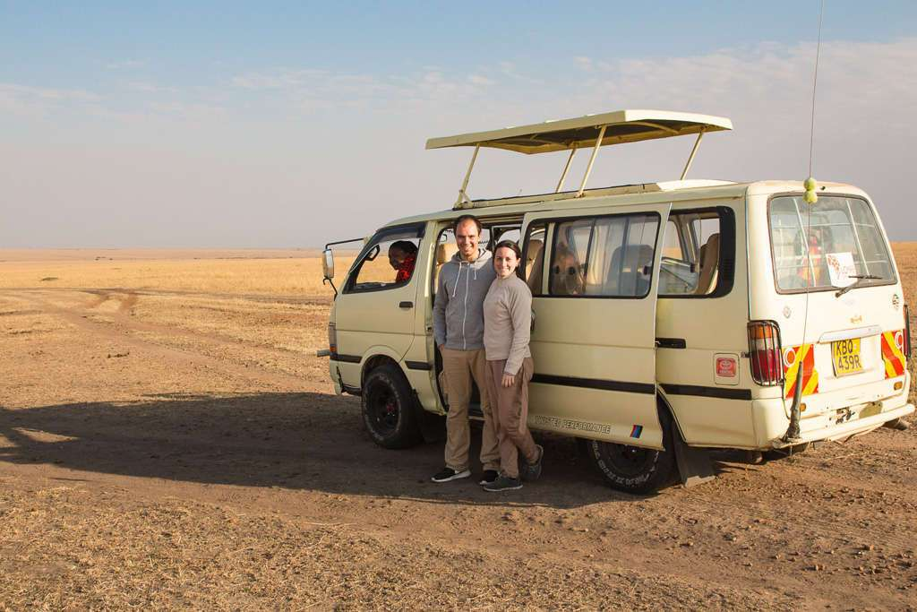 Nuestra furgoneta en Kenia